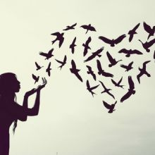 Lady with birds
