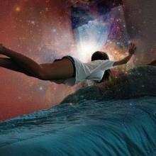 Person flying within a dream